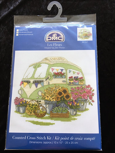 DMC Les Fleurs Cross Stitch Kit