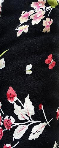 black floral polyester/viscose mix