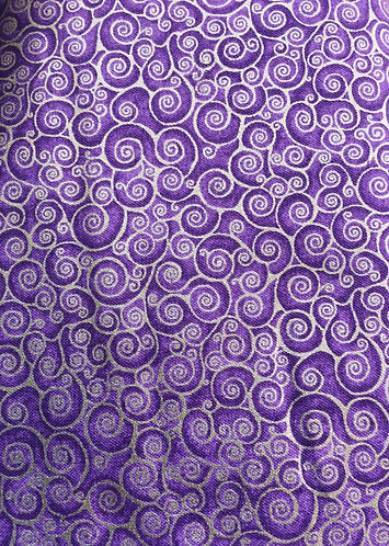 Makower Rhapsody Scroll purple