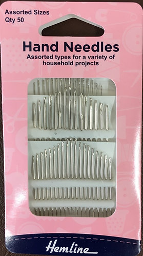 Household Needles Assorted by Hemline