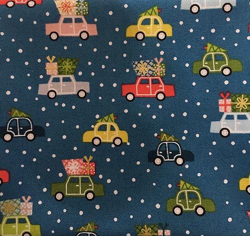 Makower Joy Cars - Blue