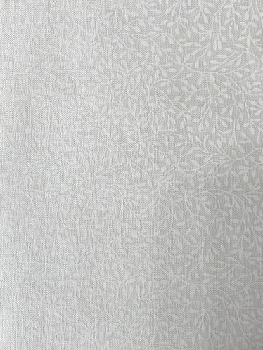 Makower mini leaf white on cream