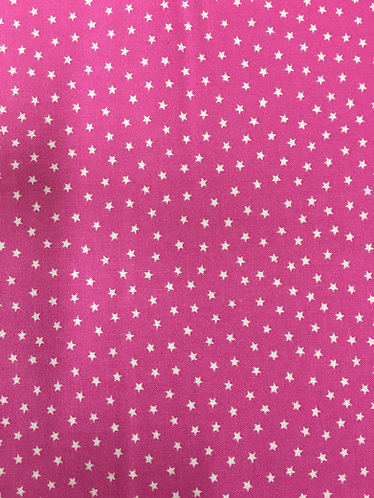 Makower Star Bright.Hot Pink