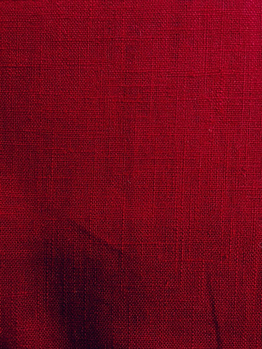 100% Linen dark red