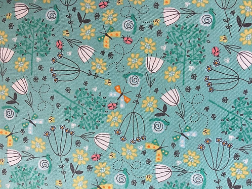 Makower walk in the park floral in green