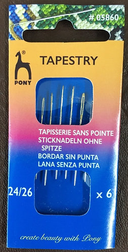 Tapestry Needles by Pony size 24/26