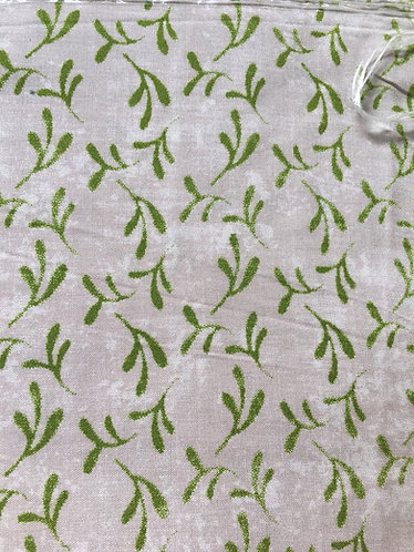 Ultra light viscose green leaves on cream