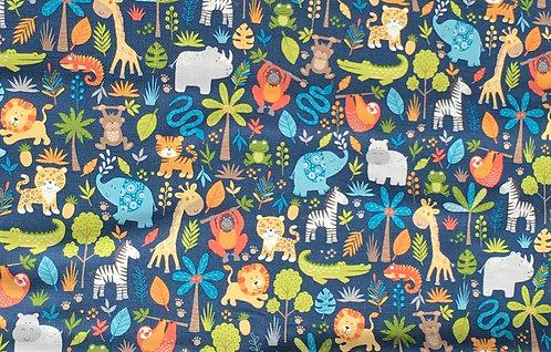 Makower Jungle Friends Montage