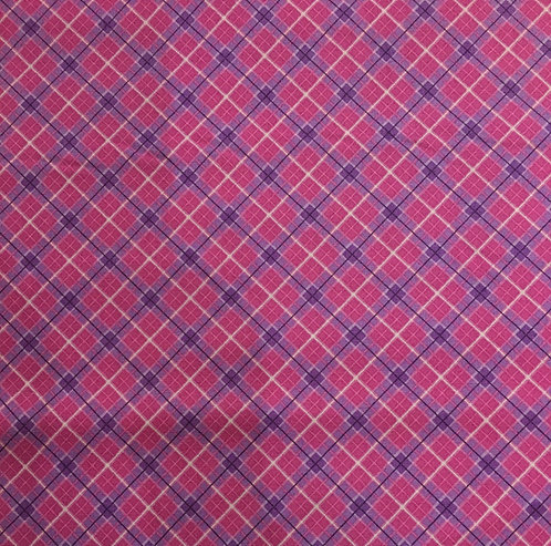 Lewis and Irene Celtic Blessings plaid in pink