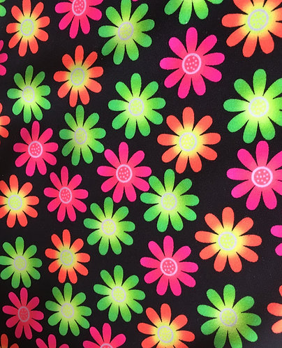 Bright daisy swimwear fabric