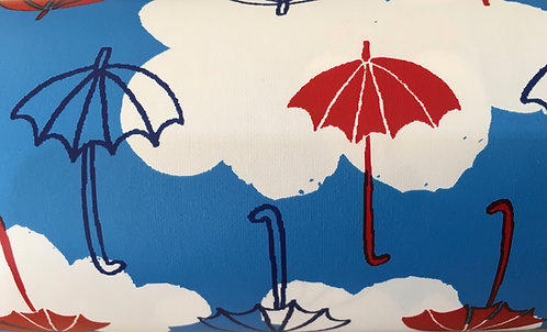 Umbrella pattern raincoat fabric