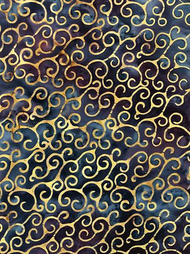 Metallic Gold swirl Batik