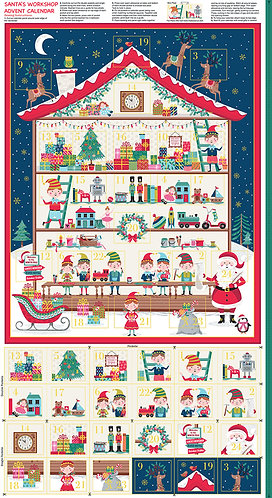Santas Workshop Advent Calendar Panel