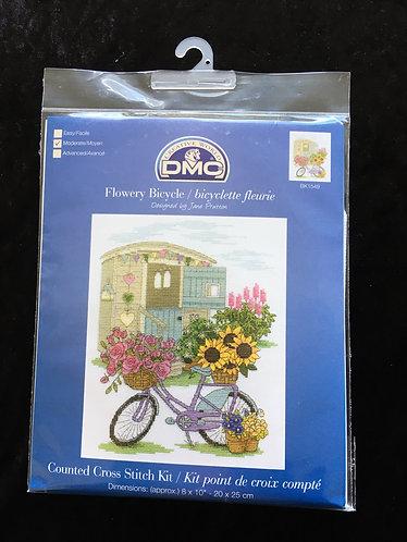 DMC Flowery Bicycle cross stitch kit