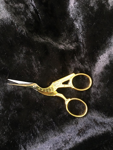 Jonome Stork embroidery scissors with cover