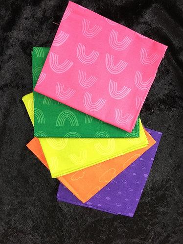 Fat Quarter Bundle  Rainbow Colours