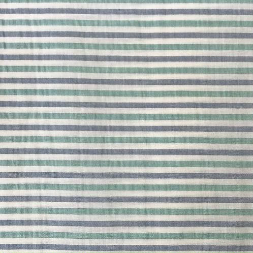 Cotton and Viscose seersucker stripe