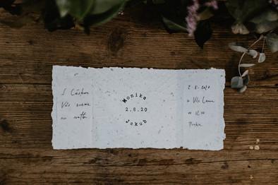 Svatební oznámení ručně psané