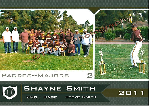 8X10 Digital Memory Mate (Little League Baseball)
