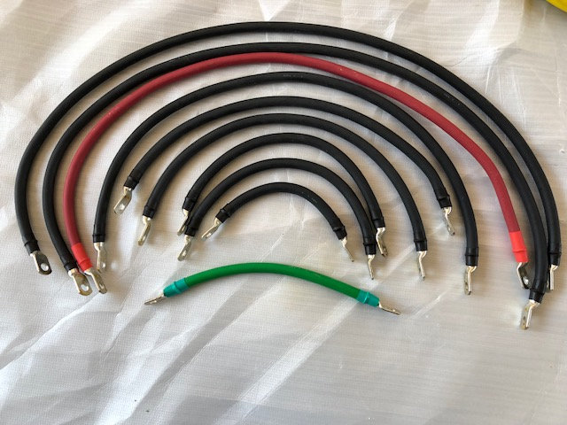 Club Car Precedent 6x8 Volt Full Cable set, 2awg