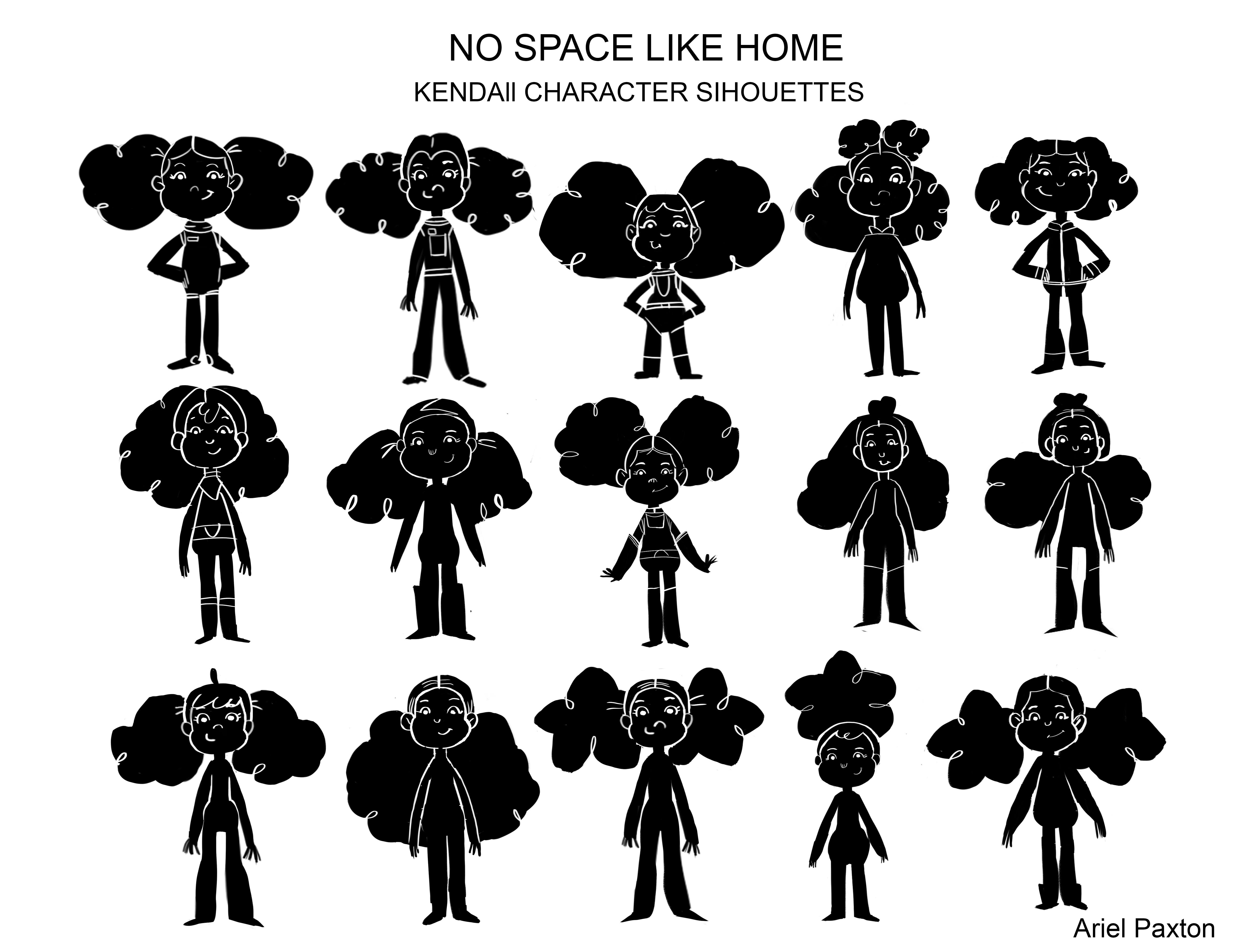 No Space Like Home Girl Silhouette