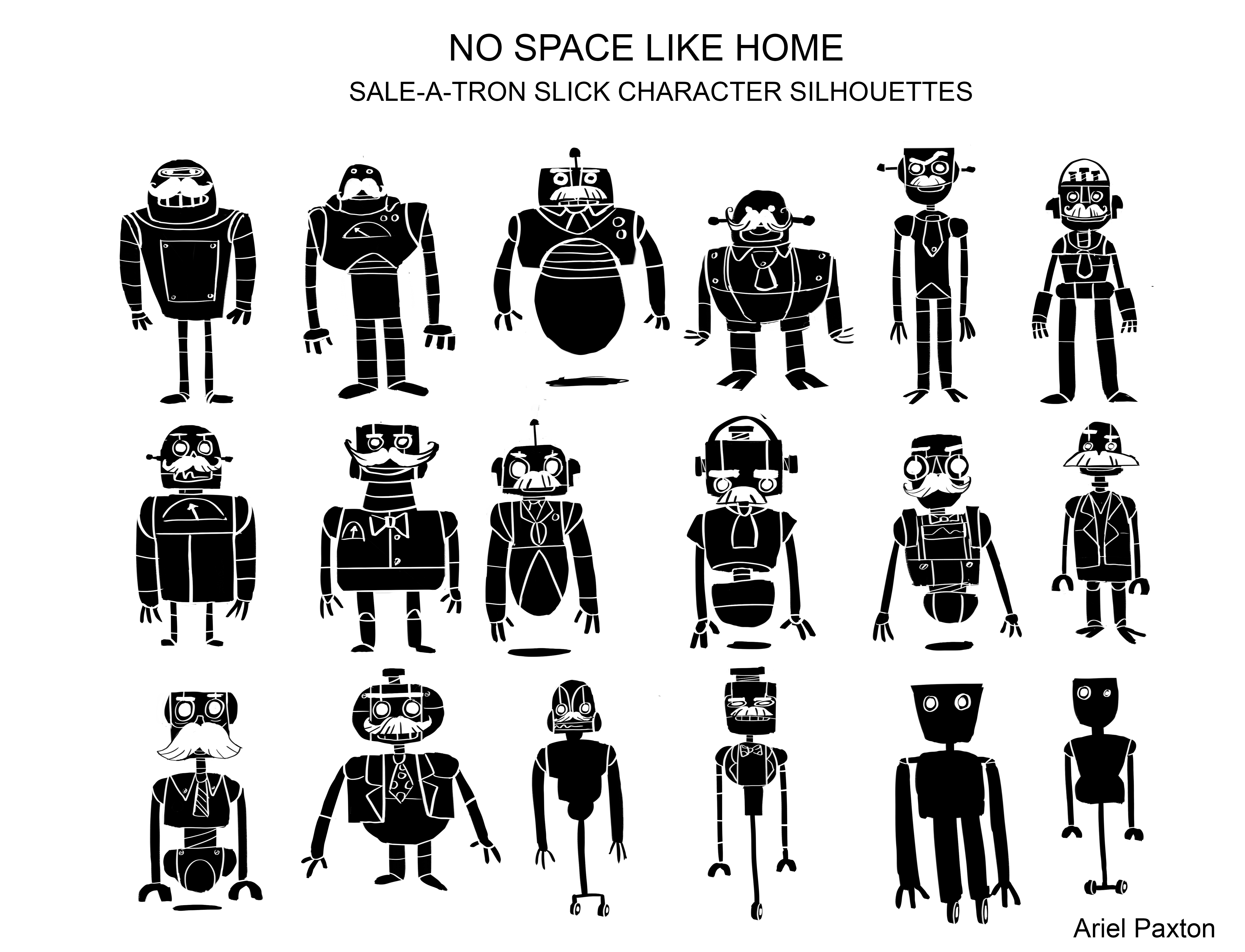 No Space Like home Robot Silhouette