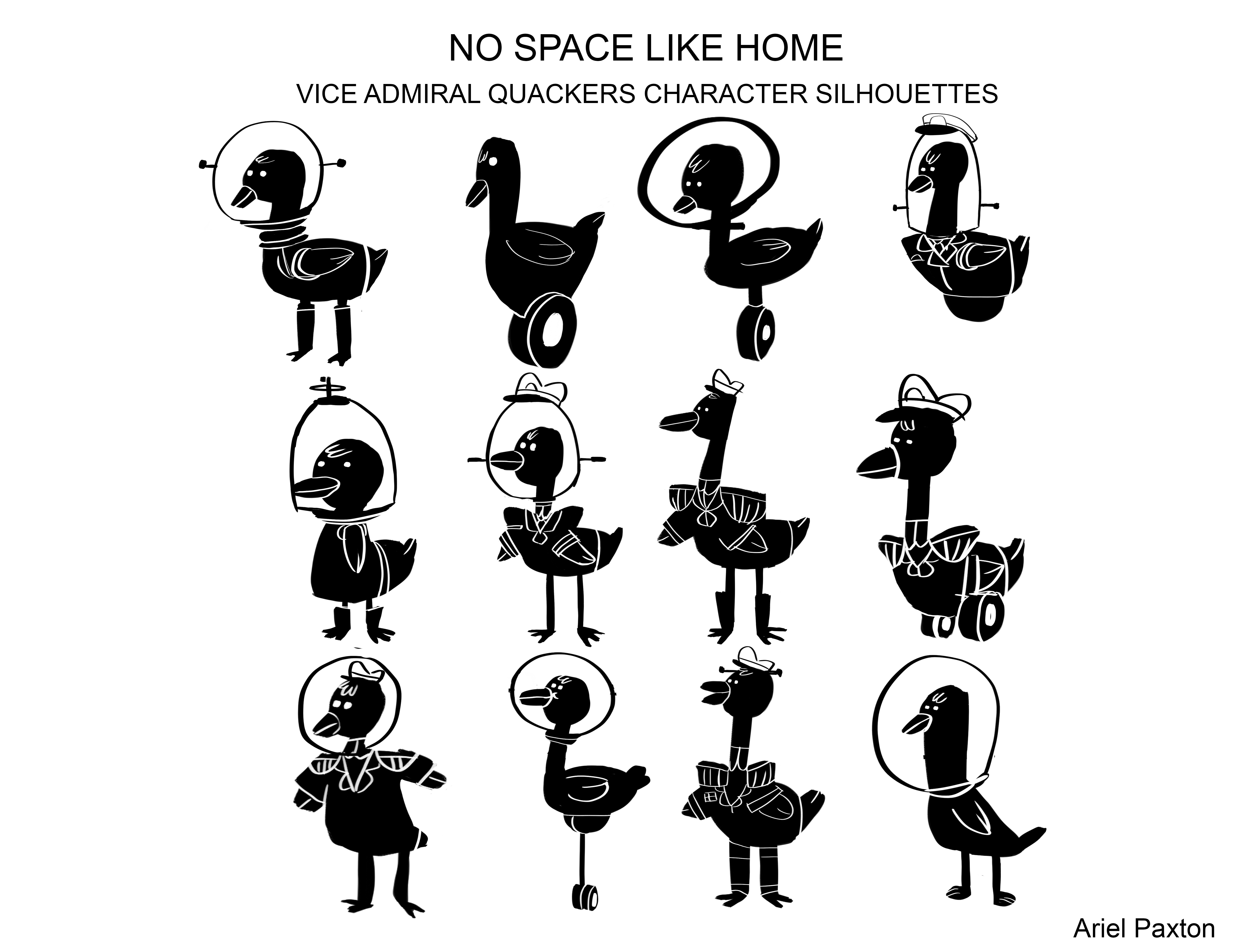 No Space Like Home Duck Silhouettes
