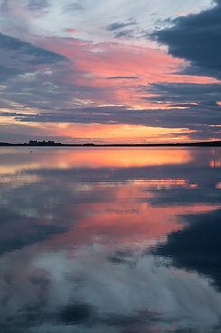 Sunset over Loch of Skaill