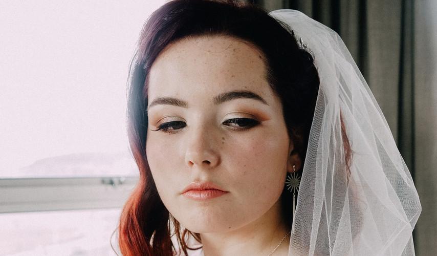 vintage modern bridal makeup