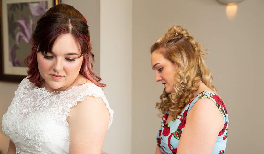 bridal makeup prep shot