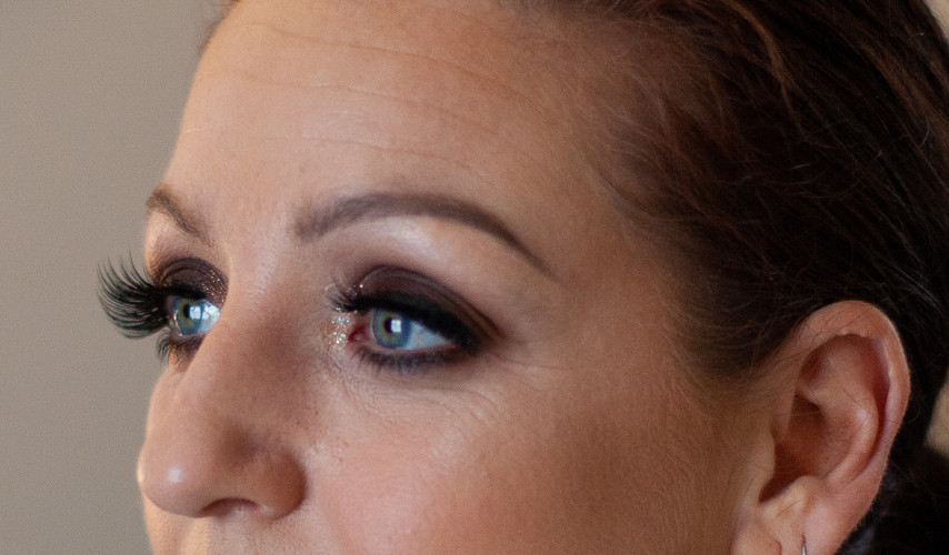 Black smokey eye party makeup
