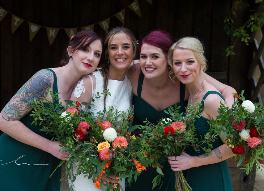 Autumn Bridal Group Makeup