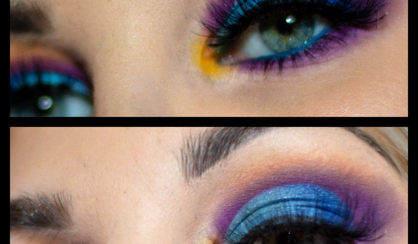 Mutlicolour eye makeup