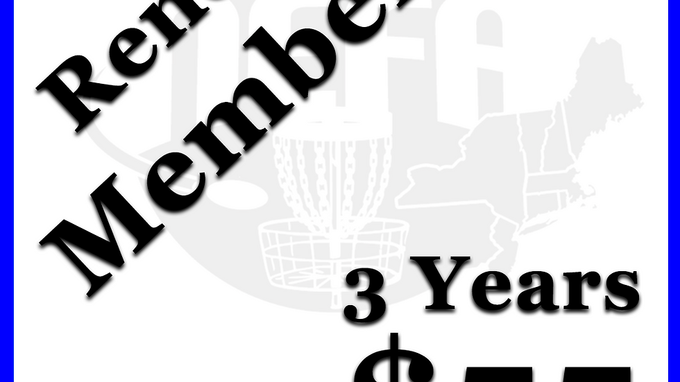 3 Year Renew Member! (Must have been active last year)