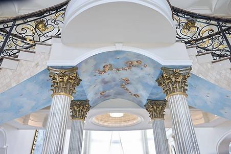 Stair Mural and Paintings