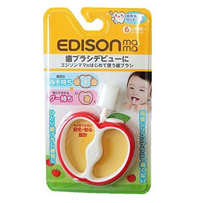 EDISON Mama 嬰兒專用蘋果牙刷/牙膠