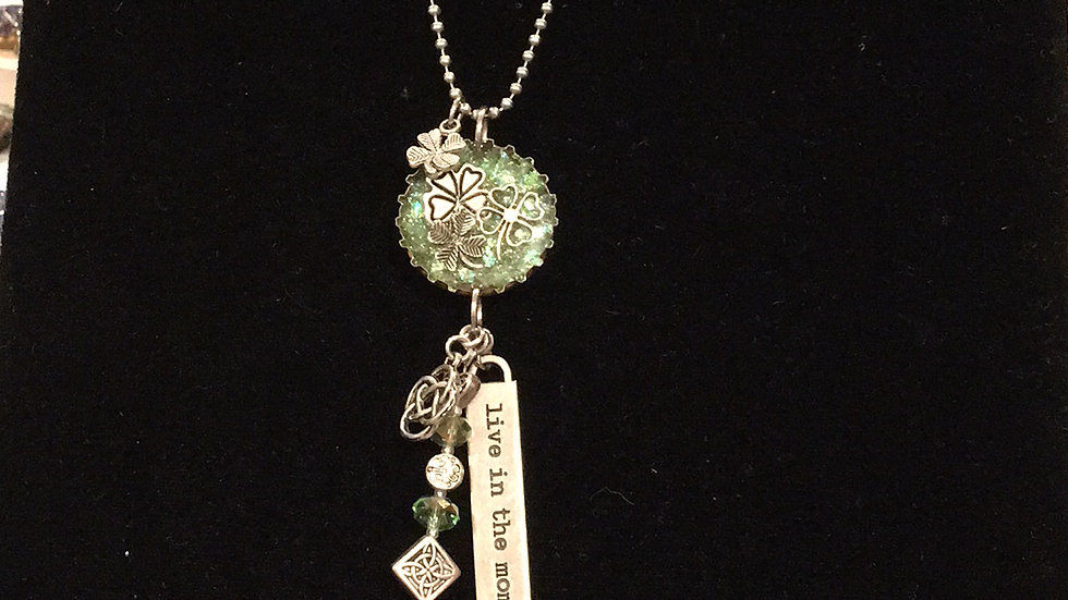 Four Leaf Clovers with Hanging Jewelry