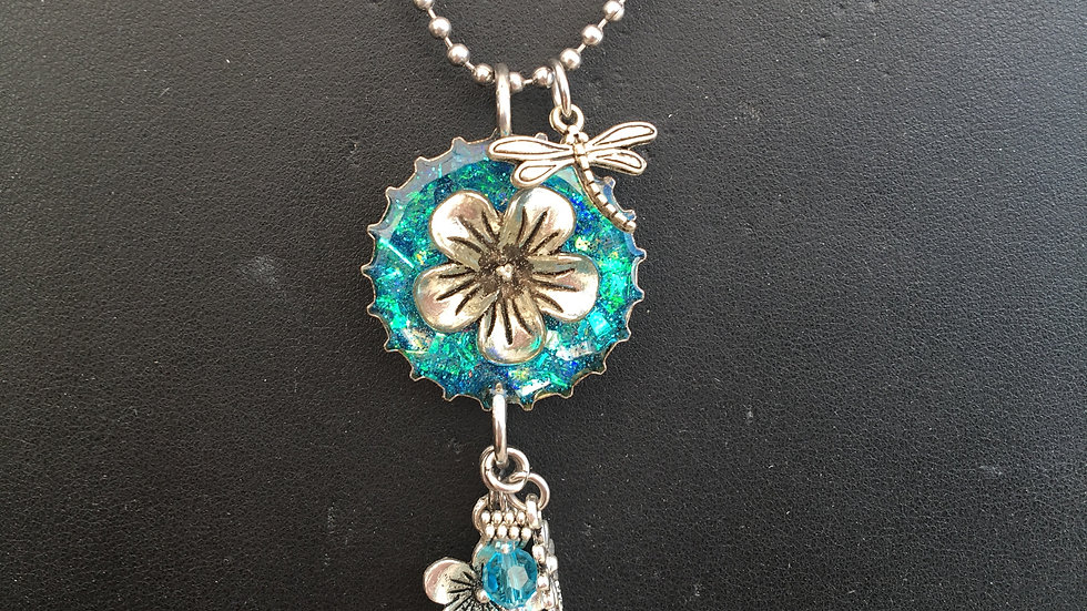 Flower with Hanging Jewelry