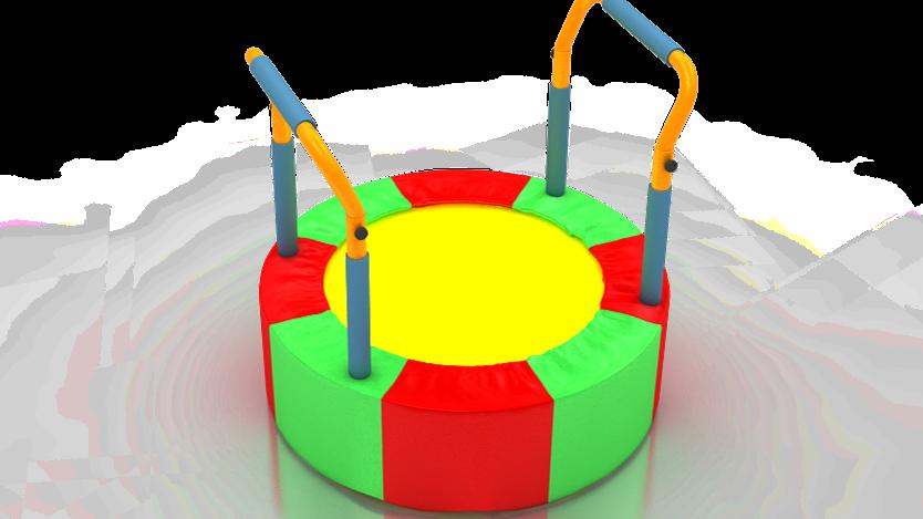 TR-207  80cm Tutamaklı Mini Zemin Trambolin