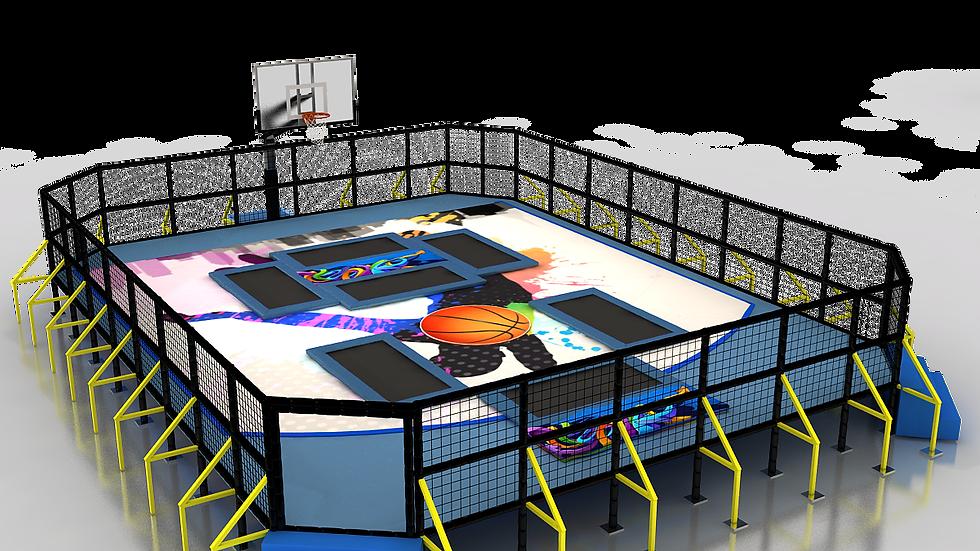 TR-812 Tek Pota Slam Ball / Basket Trambolin