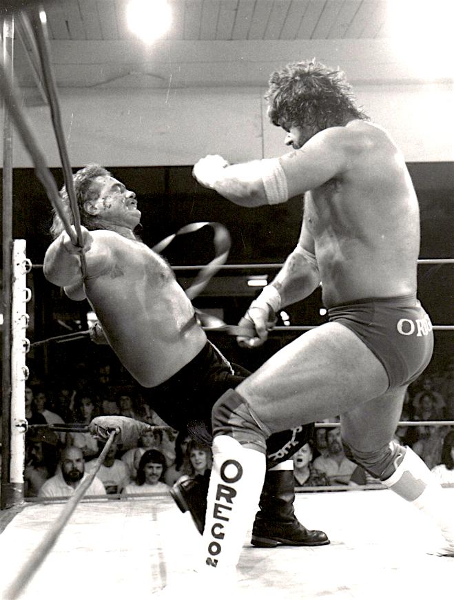Portland Wrestling 1989 - The Grappler Lynn Denton & Billy Jack Haynes