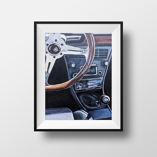 Vintage BMW - Print