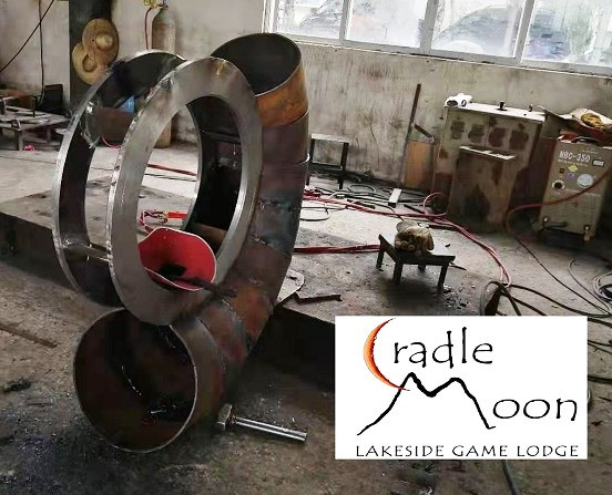 The turbine being manufactured in the workshop