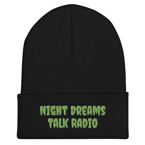 Night Dreams Talk Radio Cuffed Beanie