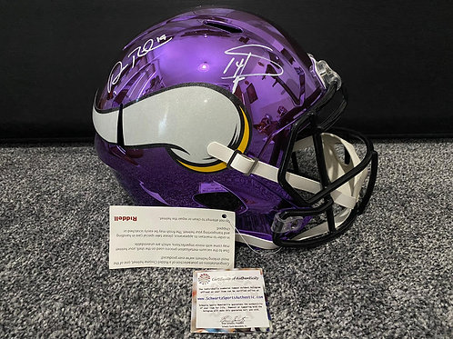 Stefon Diggs & Adam Thielen, Minnesota Vikings Full Size Chrome Speed Rep Helmet