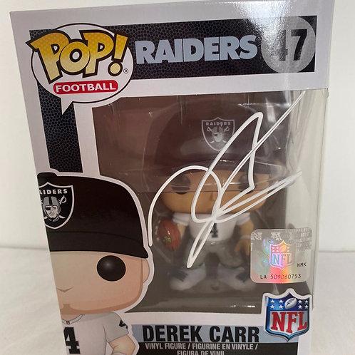 Derek Carr - Raiders - Signed Funko Pop