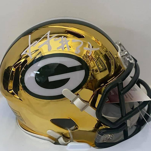 Josh Jackson - Green Bay Packers - Chrome Mini Helmet