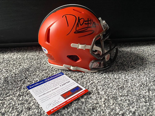 David Njoku - Cleveland Browns - Mini Helmet