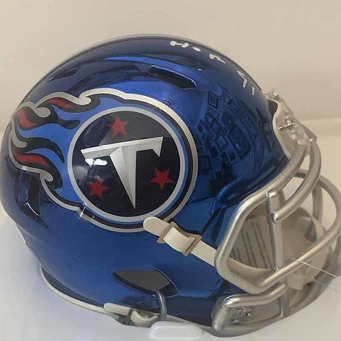 Earl Campbell - Tennessee Titans - Chrome Mini Helmet