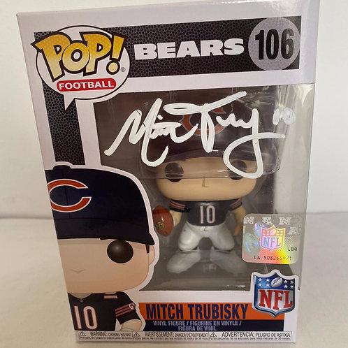 Mitch Trubisky - Chicago Bears - Signed Funko Pop